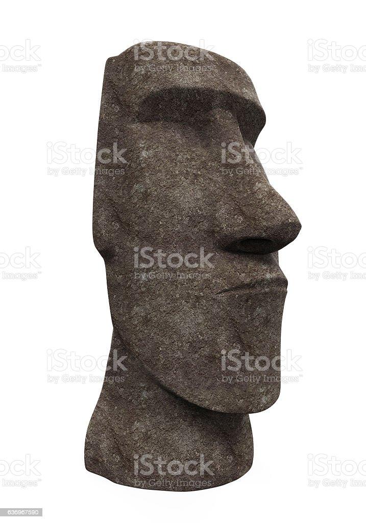 Moai Statue Isolated stock photo