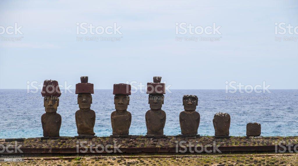 Statues Moai photo libre de droits