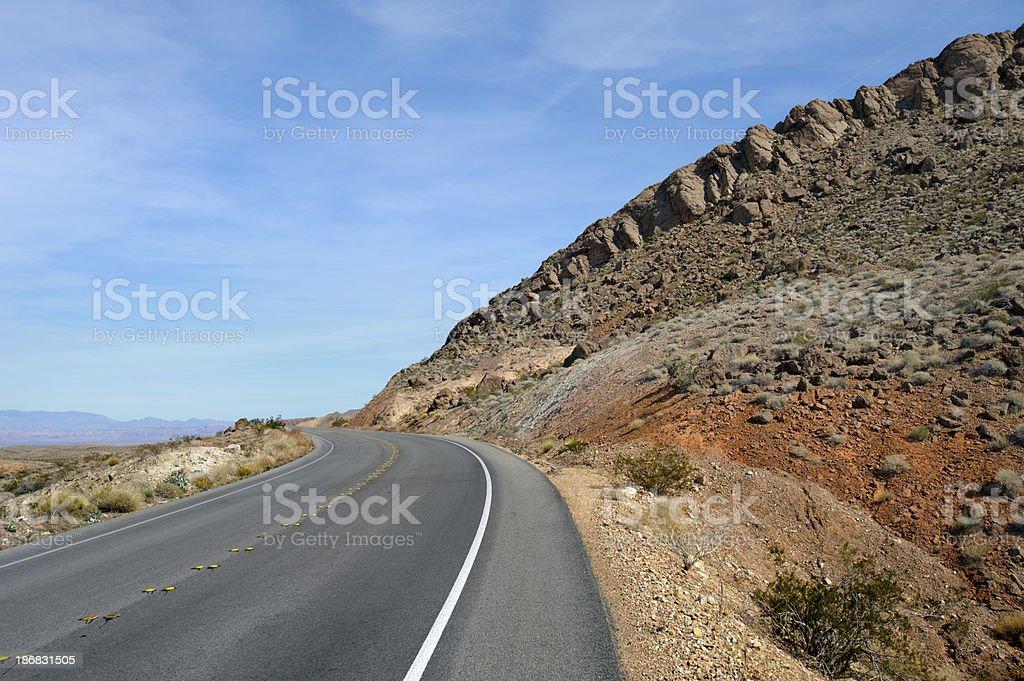 moapa, desert highway, rocky ridge royalty-free stock photo