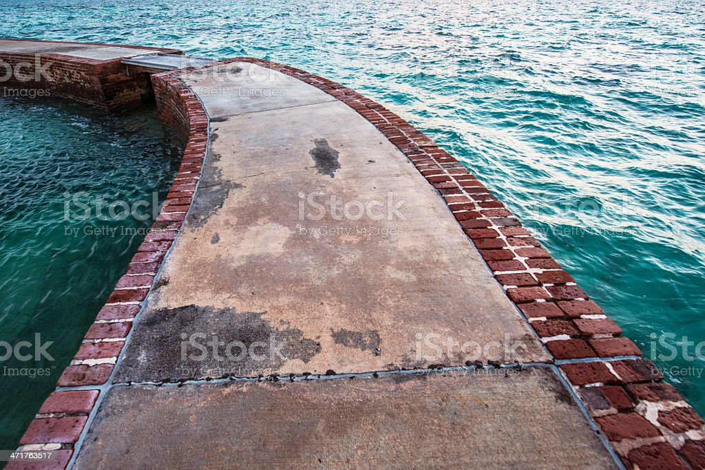 Moat Wall in the Dry Tortugas Florida Keys stock photo