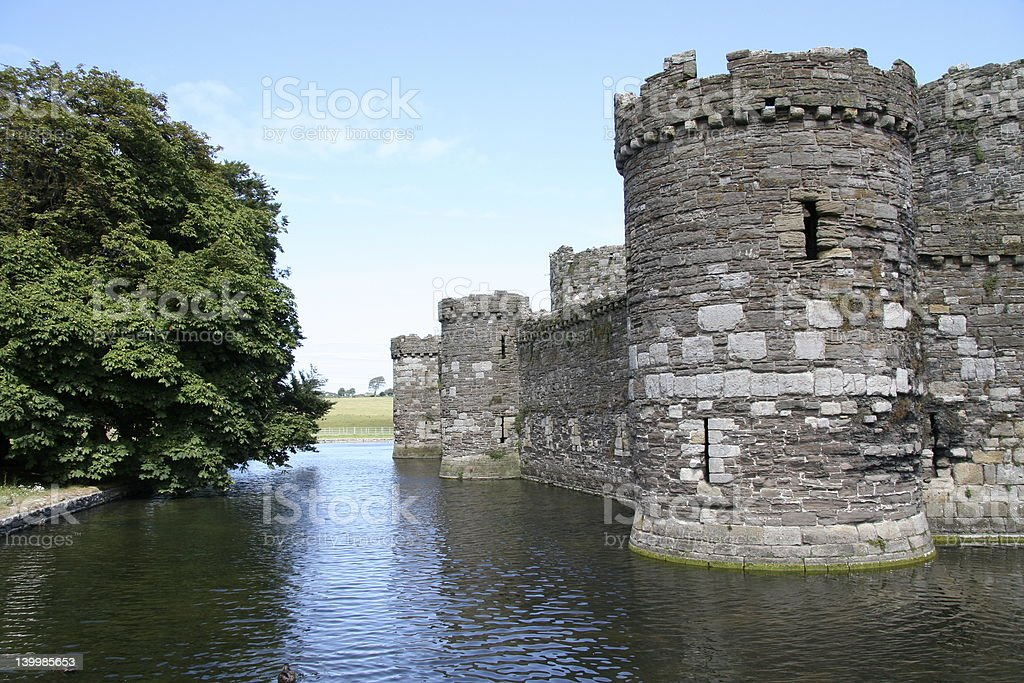 Moated Castle stock photo