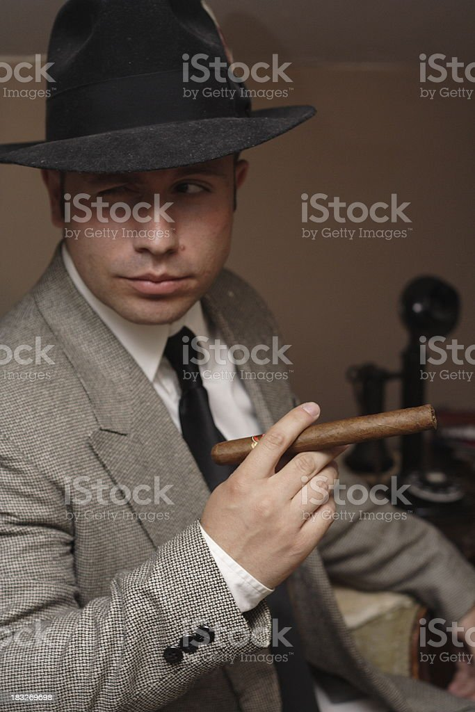 Mob Boss royalty-free stock photo