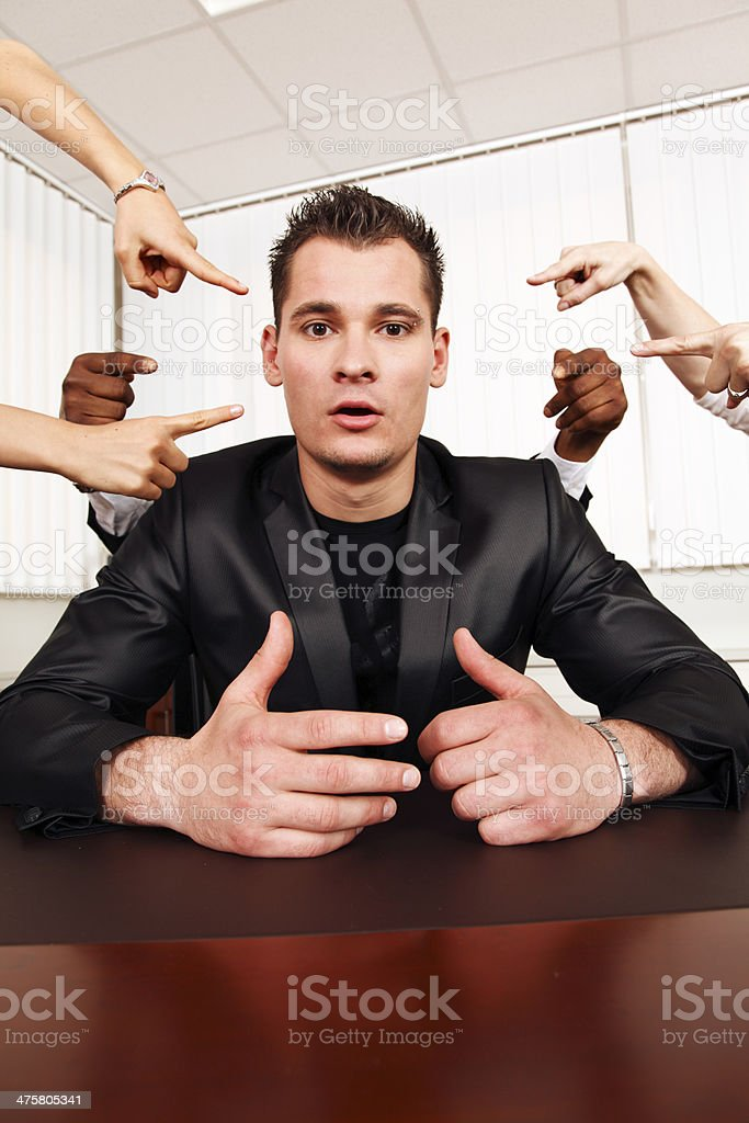 Mobbing at work royalty-free stock photo