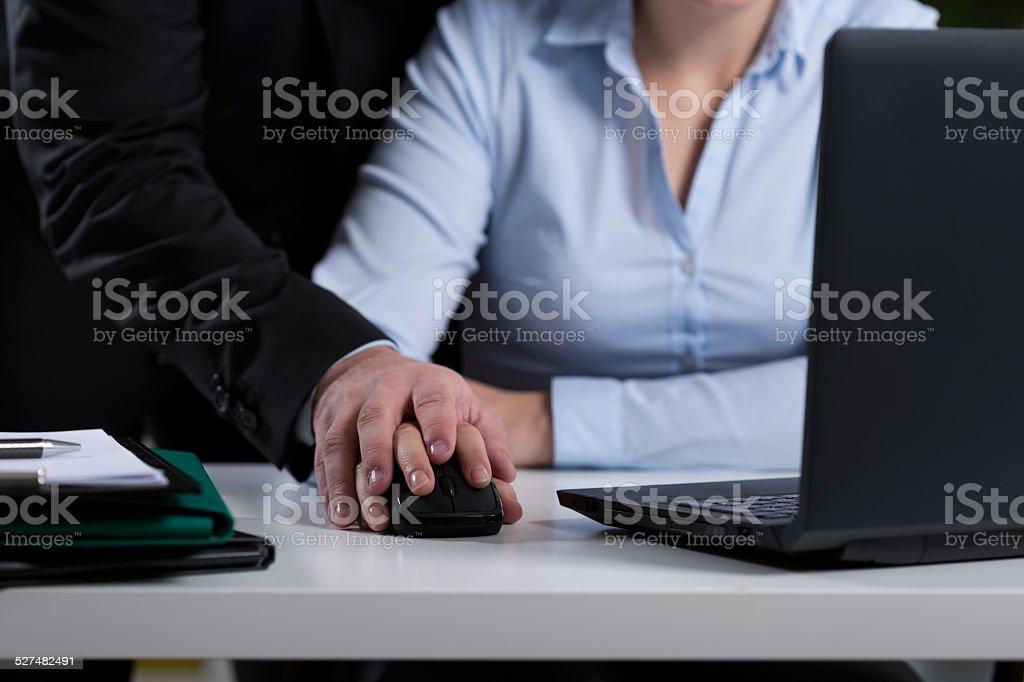 Mobbing at work stock photo