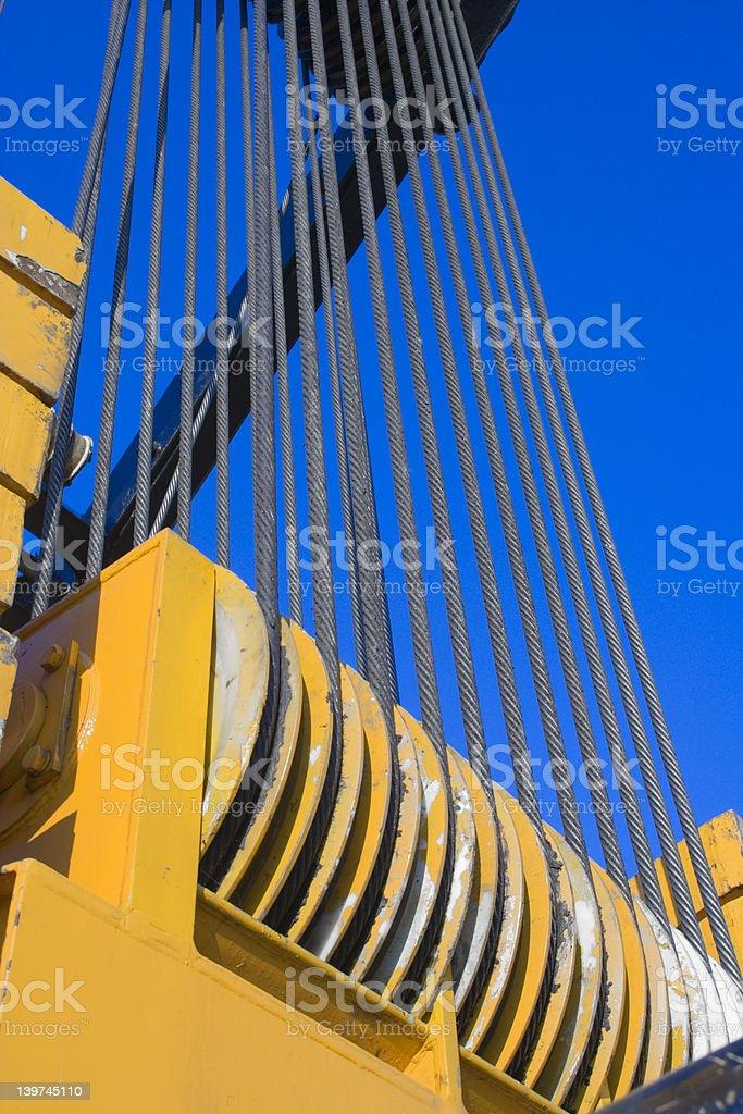 mobil crane detail royalty-free stock photo