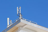 istock Mobile antenna in a building 503895824