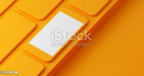 istock Mobile App Presentation Mockup 1141252138