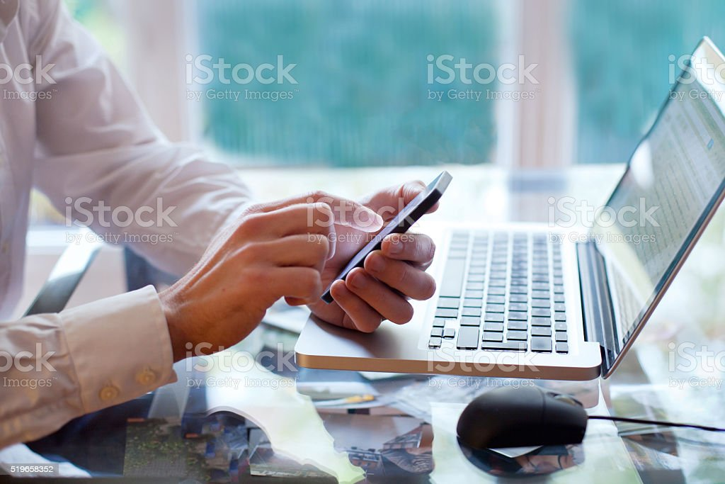 mobile application stock photo
