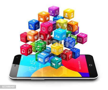 istock Mobile applications and internet concept 522585497