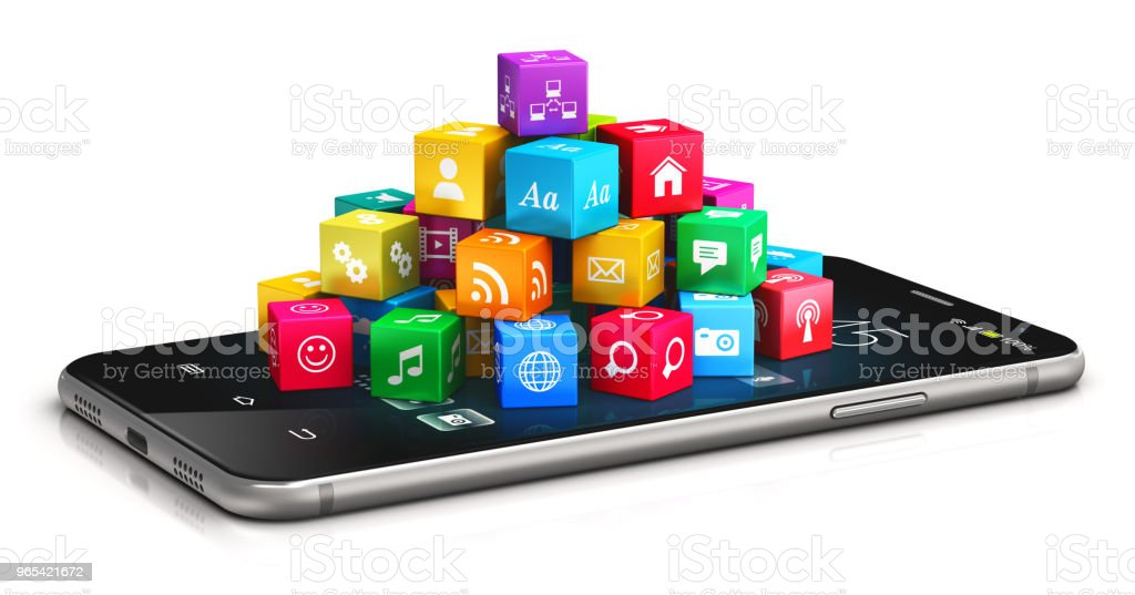 Mobile applications and internet concept royalty-free stock photo