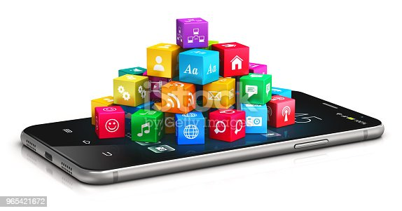 istock Mobile applications and internet concept 965421672
