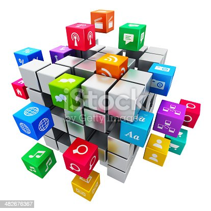 istock Mobile applications and media technology concept 482676367