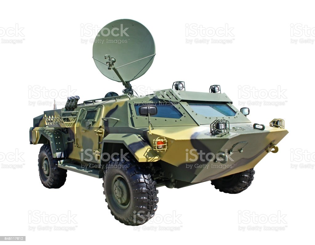 Mobile armored vehicle stock photo