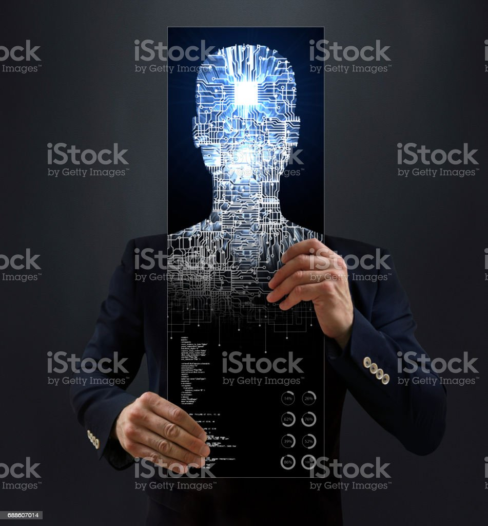 Mobile Artificial Intelligence stock photo