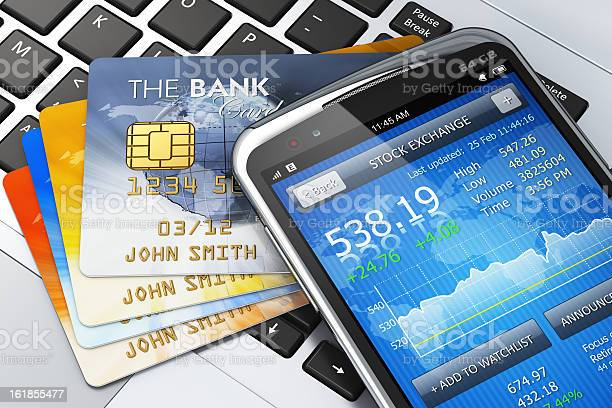 Mobile Banking And Finance Concept Stock Photo - Download Image Now