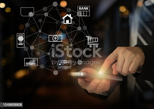 istock mobile banking network 1049658908