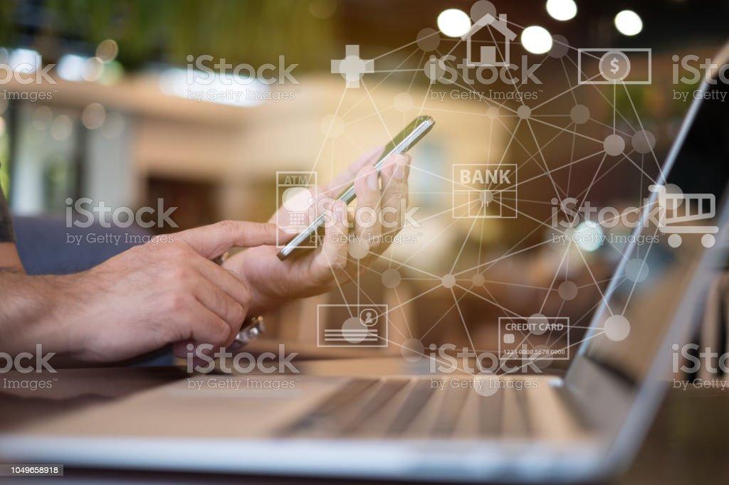 移動銀行網路 - 免版稅互聯網圖庫照片