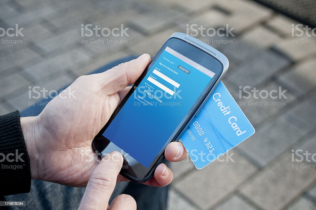 Mobile banking royalty-free stock photo