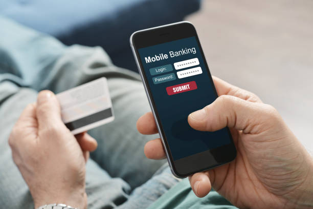 mobile banking - electronic banking stock pictures, royalty-free photos & images
