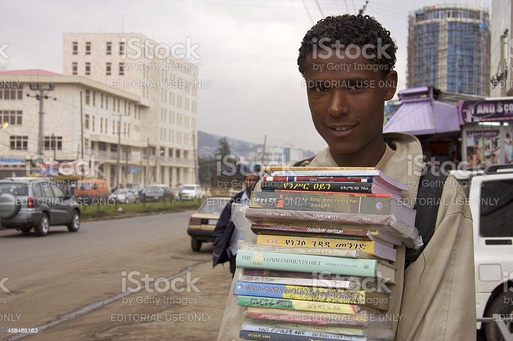 Mobile book seller royalty-free stock photo