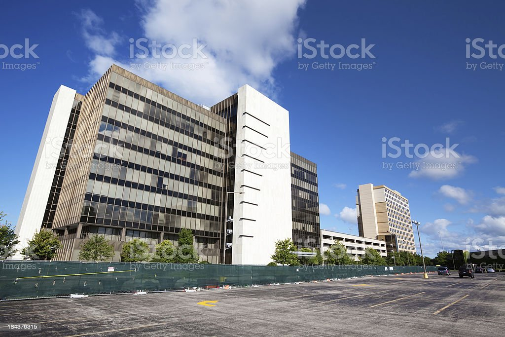 T Mobile building in Presidents Plaza, OHare, Chicago royalty-free stock photo