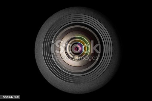 istock mobile camera lens on black background 533437396