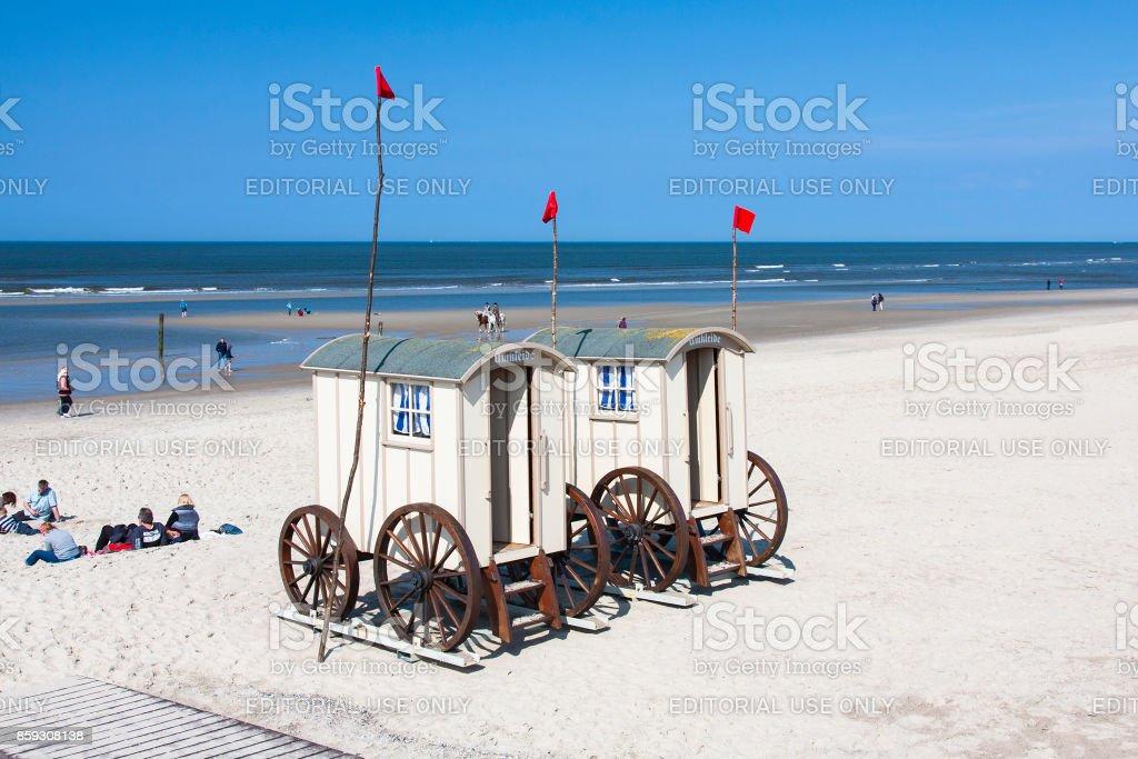 Mobile ändern Zimmer am Strand, redaktionelle – Foto