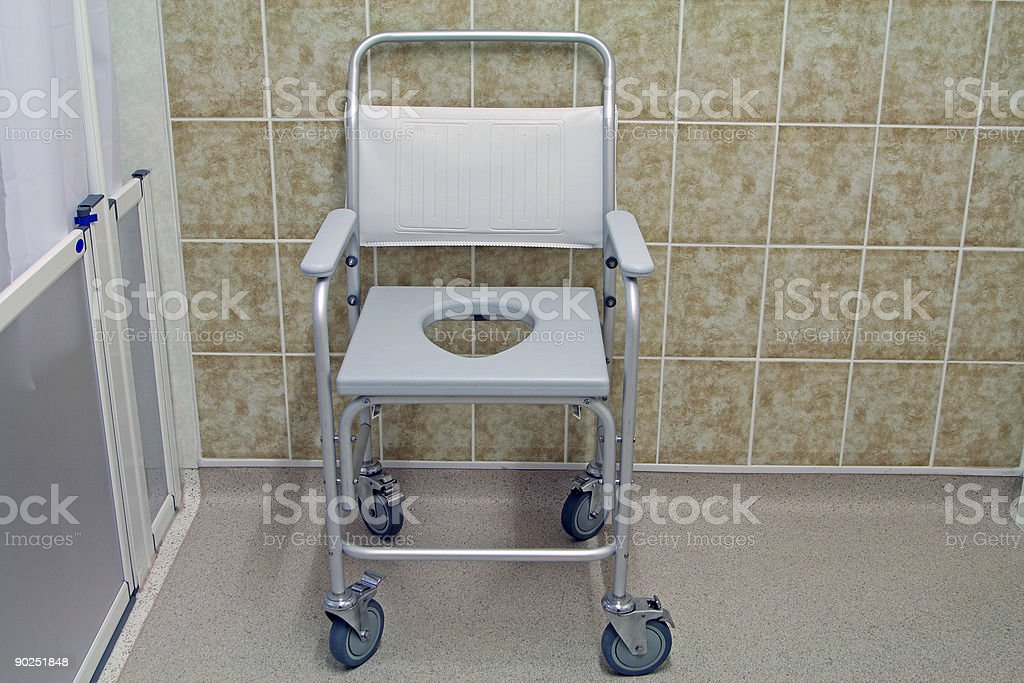 mobile commode stock photo