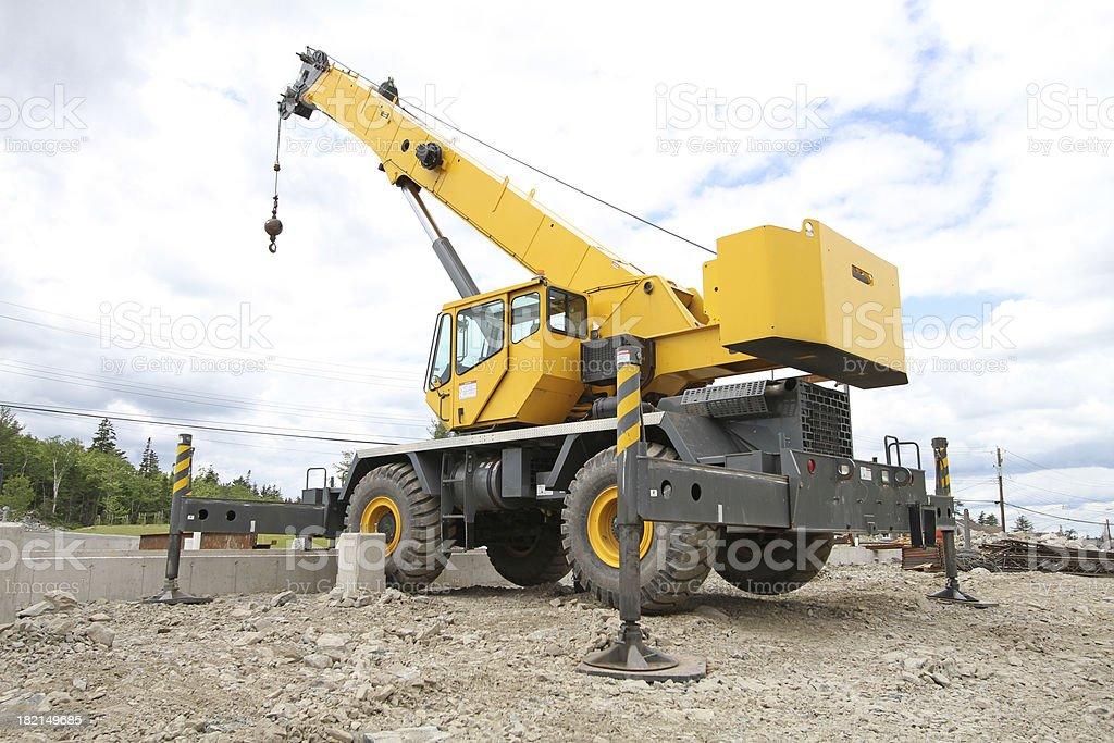 Mobile Construction Crane royalty-free stock photo