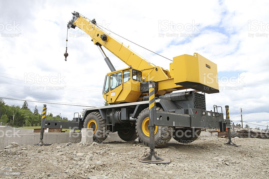 Mobile Construction Crane stock photo