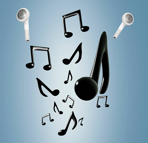 mobile cordless music - desenhos de notas musicais - fotografias e filmes do acervo