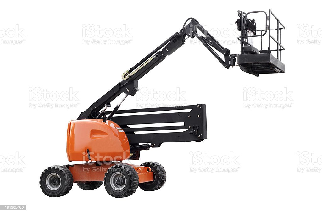 Mobile Crane - Isolated stock photo