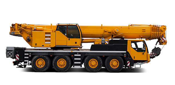 Mobile Crane isolated crane mobile crane stock pictures, royalty-free photos & images
