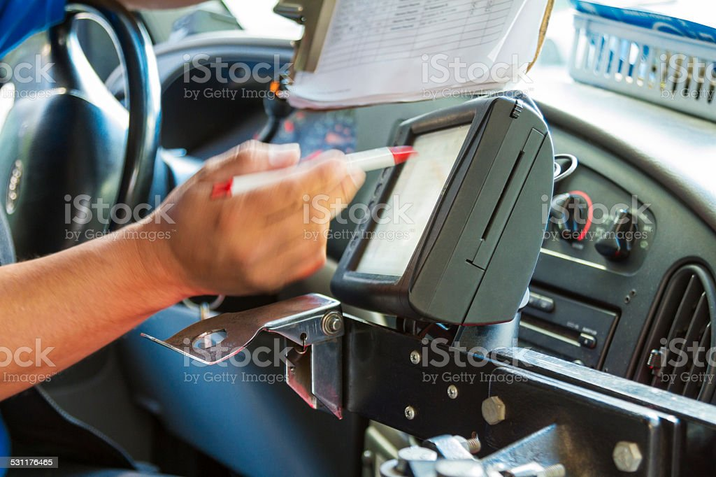 Mobile data terminal stock photo