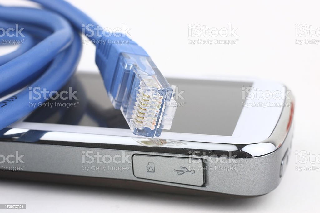 Mobile device connection royalty-free stock photo