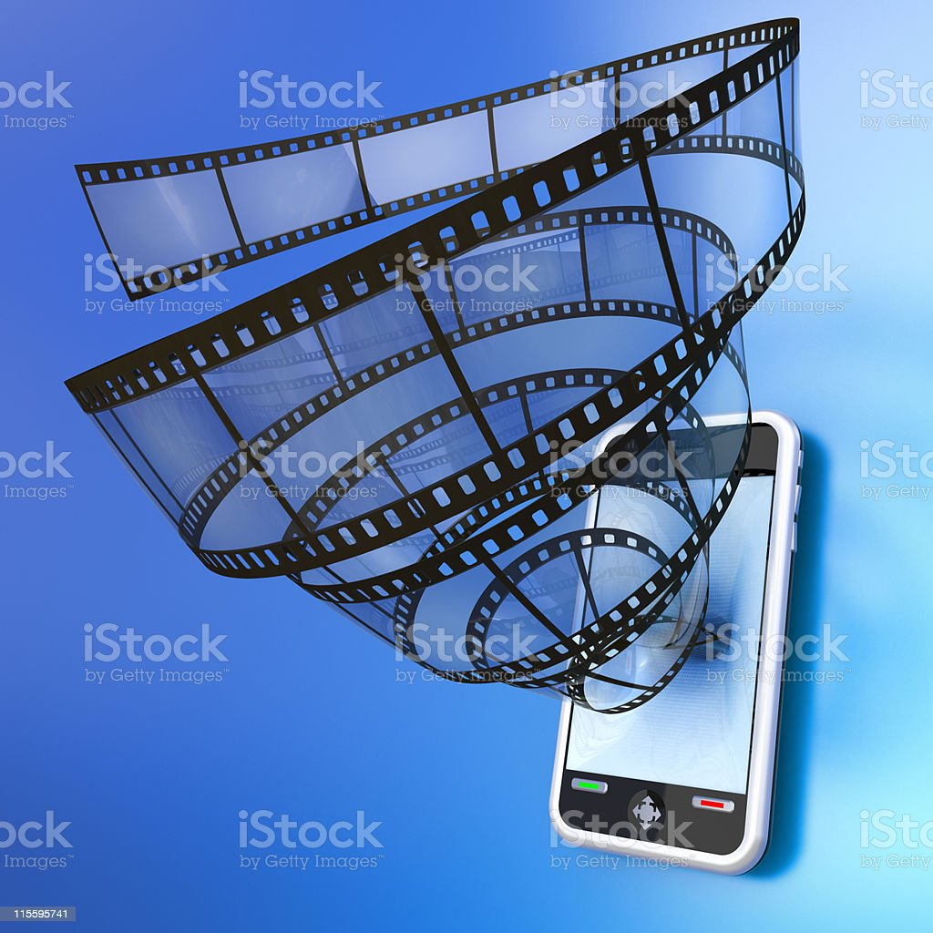 Mobile device video royalty-free stock photo