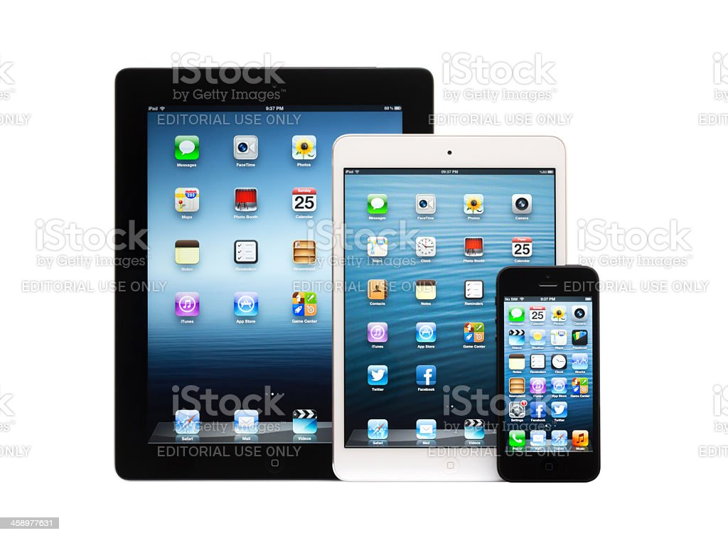 Mobile devices from Apple royalty-free stock photo