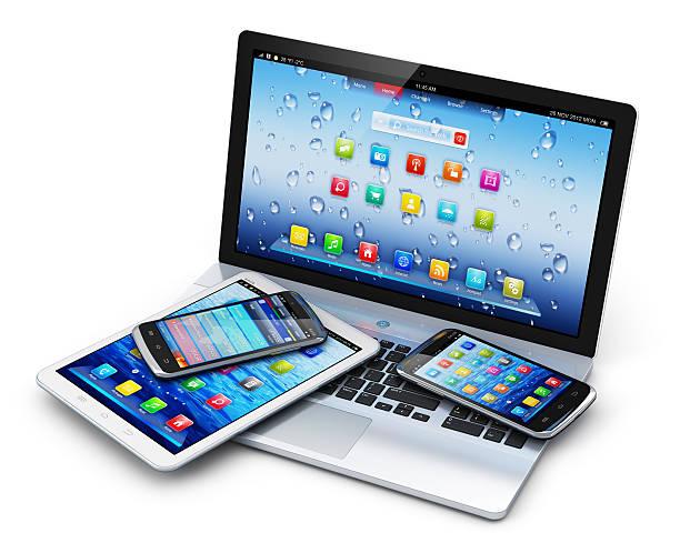 urządzenia przenośnych - przemysł elektroniczny zdjęcia i obrazy z banku zdjęć