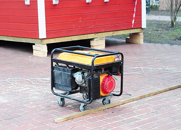 Mobile générateurs Diesel sur l'arrière-plan du Site - Photo