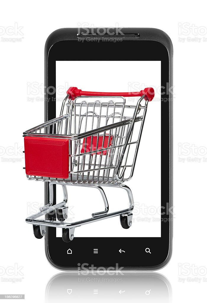 Mobile e-commerce royalty-free stock photo
