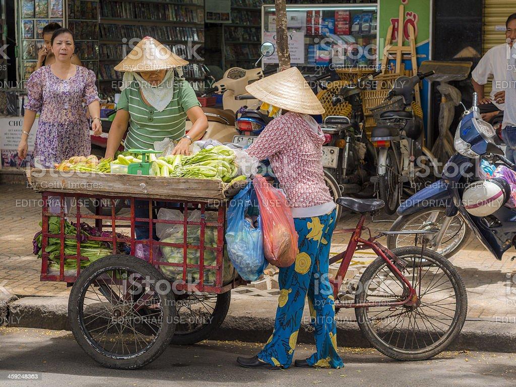 Mobile fruit stall, Saigon royalty-free stock photo