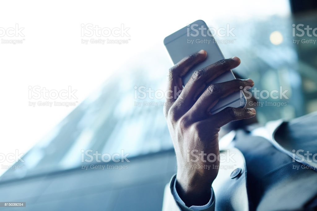 Mobile gadget stock photo
