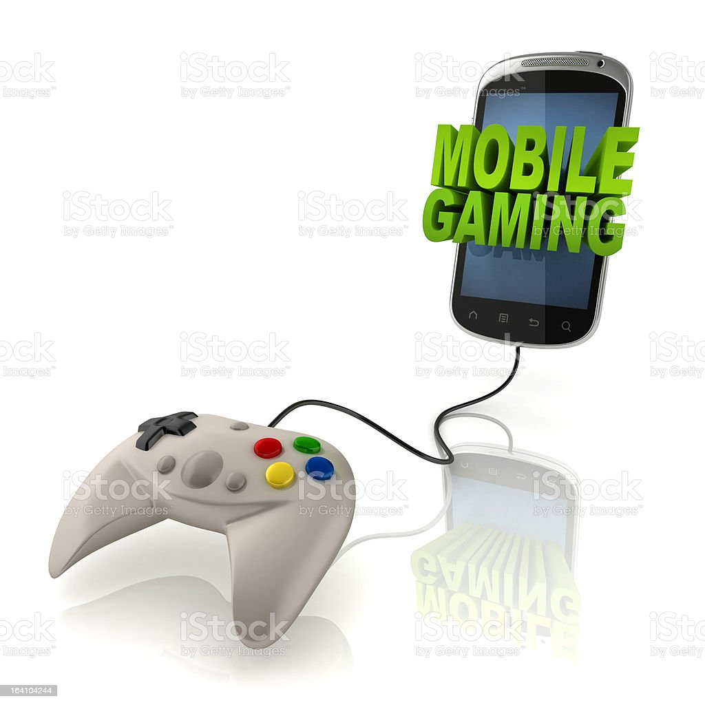 mobile gaming 3d illustration royalty-free stock photo