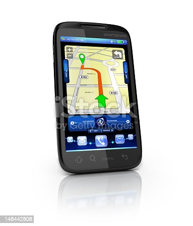 istock Mobile Gps interface 148442808