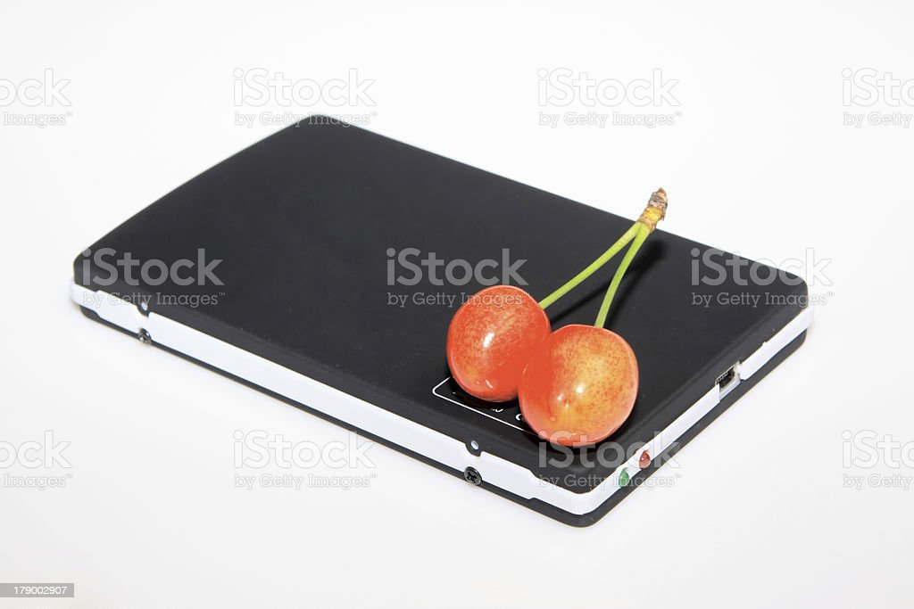 mobile hard disk royalty-free stock photo
