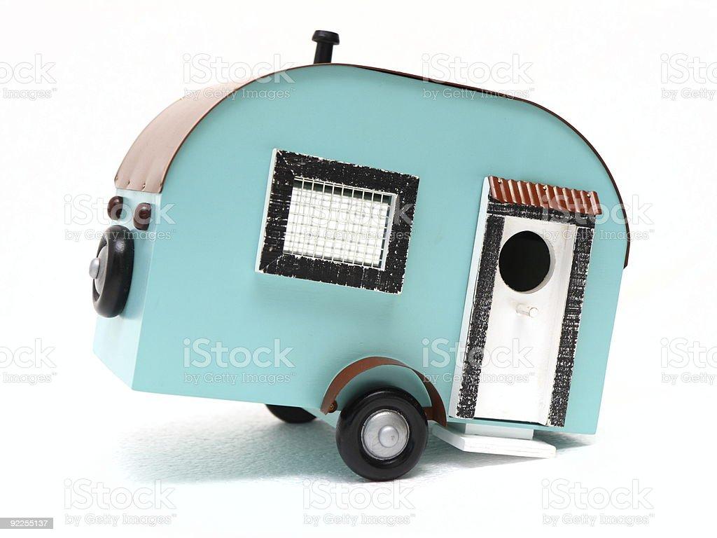 mobile home birdhouse stock photo