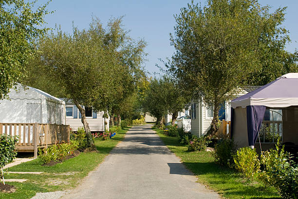 camping de mobil home  trailer park stock pictures, royalty-free photos & images