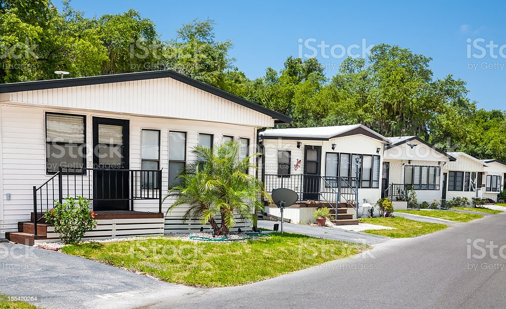 Mobile Home Community stock photo