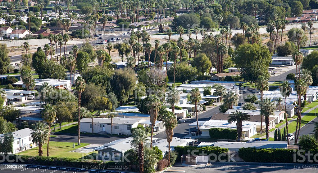 Mobile Home Park In The Desert royalty-free stock photo