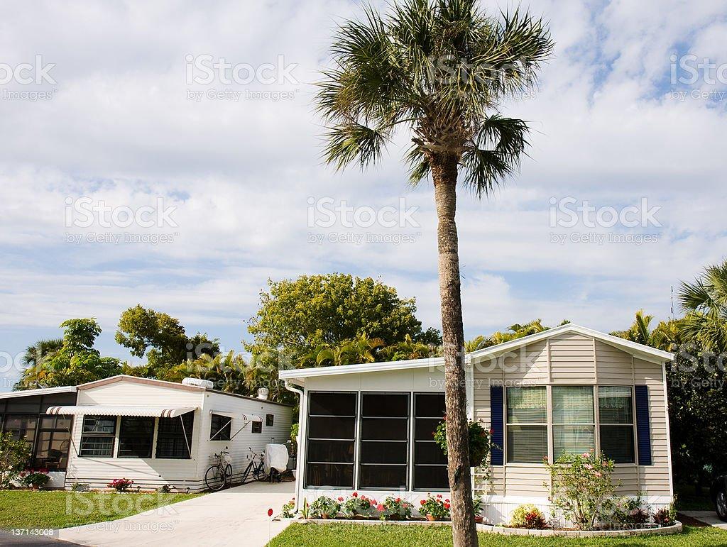 Mobile Home Retirement Community, Florida stock photo